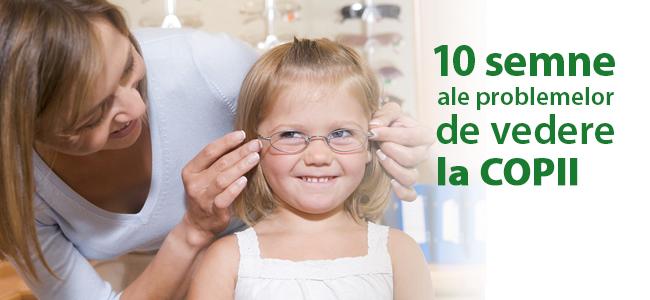 10 semne ale problemelor de vedere la copii